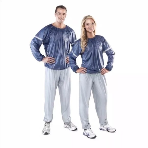 Gold S Gym Sauna Suit Weight Loss L Xl New Nwt